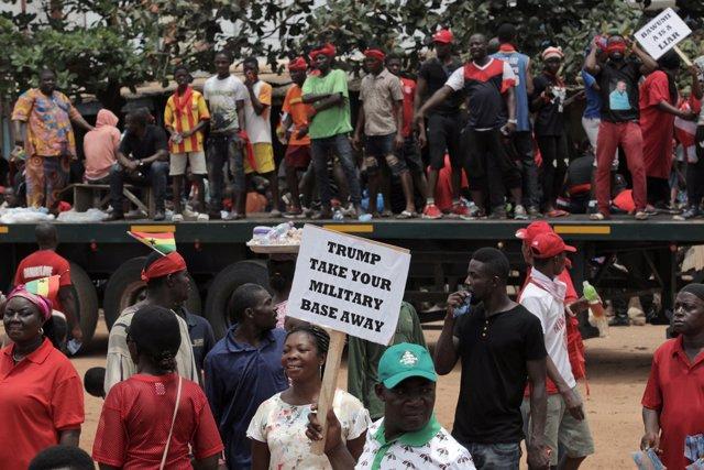 Protestas en Accra contra el acuerdo militar entre Ghana y EEUU