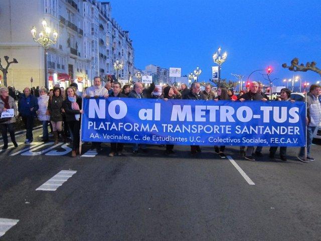 Plataforma contra el MetroTUS de Santander