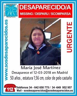 Mujer desaparecida de 50 años en Madrid