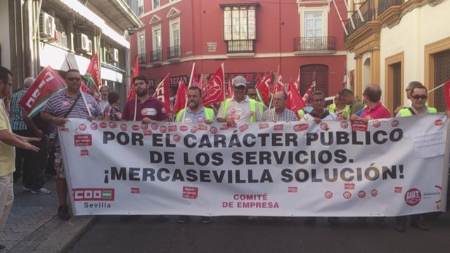 Marcha a pie de Mercasevilla