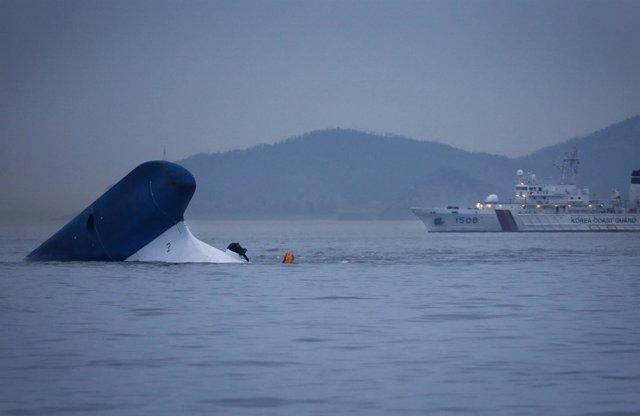 Ferry hundido Sewol en Corea del Sur