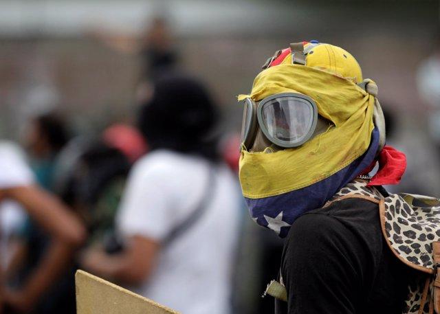 Manifestación de la oposición en Venezuela