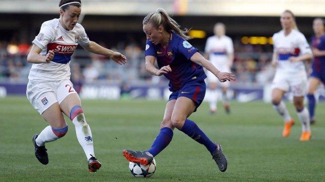 El Barcelona Femenino se marcha de Europa con un gol fantasma del Lyon