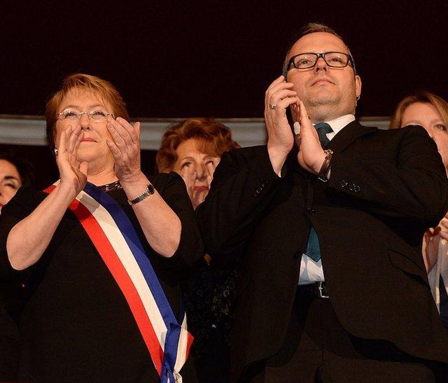 Bachelet y Sebastián Dávalos