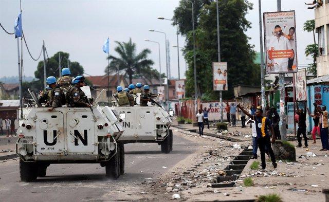 Fuerzas de paz de la ONU en Kinshasa