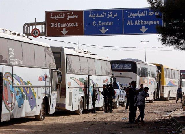 Evacuaciones de Ghuta Oriental