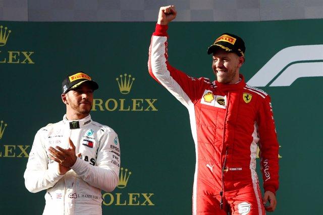 Formula 1 Australia Sebastian Vettel Lewis Hamilton