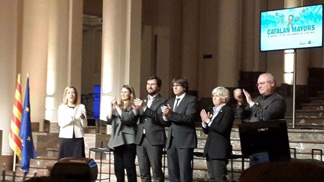 Neus Lloveras,Meritxell Serret,Toni Comín,C. Puigdemont,Clara Ponsatí,Lluís Puig