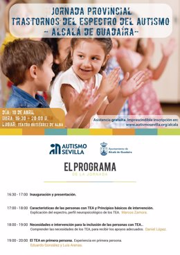 Cartel de actividades por el Día Mundial del Autismo