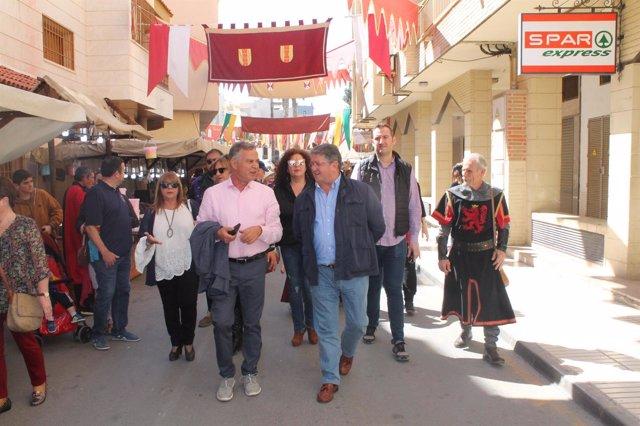 El alcalde Anastasio Bastida inaugura el Mercado Medieval