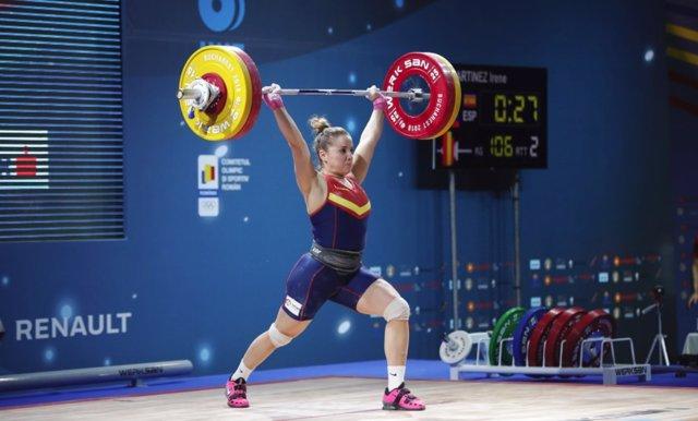 Irene Martínez se cuelga el bronce en arrancada en el Europeo