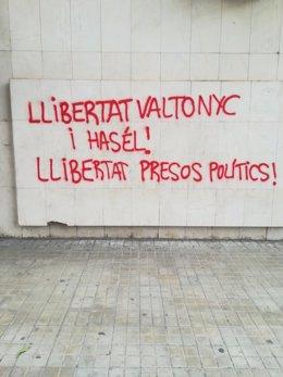 Pintadas en la sede de Cs de Lleida
