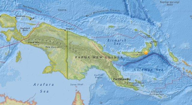 Terremoto de magnitud 7,2 en el este de Papúa Nueva Guinea