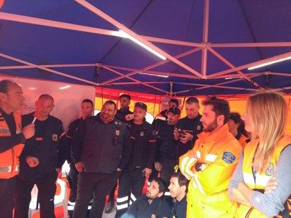 Unos 25 voluntarios de Protección Civil ensayan la manera de actuar en caso de búsqueda de personas desaparecidas