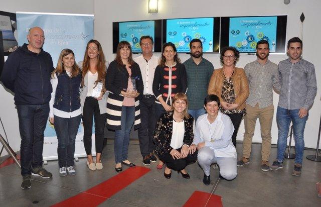 Los premiados del concurso 'Monta tu empresa' en 2017