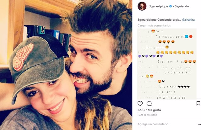 Shakira y pique foto juntos subida a instagram en semana santa de 2018