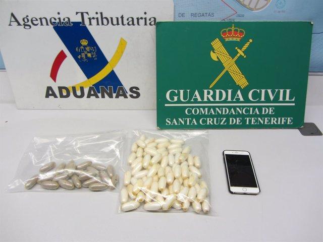 La Guardia Civil Y La Agencia Tributaria Detienen A Tres Pasajeros Por Portar Dr