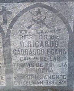 Tumba de Ricardo Carrasco Egaña