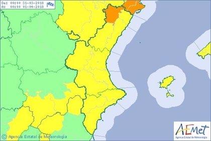 La Comunitat registrará este sábado vientos de hasta 100 km/h en el interior norte de Castellón