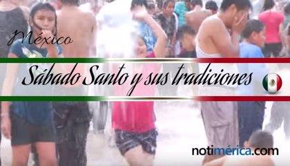 ¿Por qué existe la tradición de mojarse el Sábado de Gloria en México?