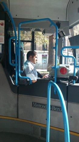 Mampara en autobús de EMT de Palma