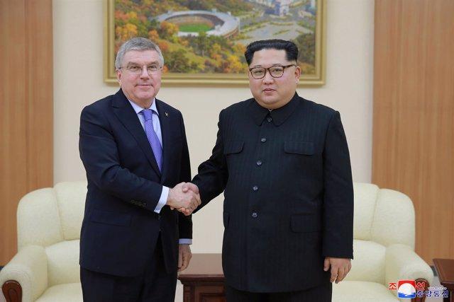 Thomas Bach COI Kim Jong Un Corea Norte