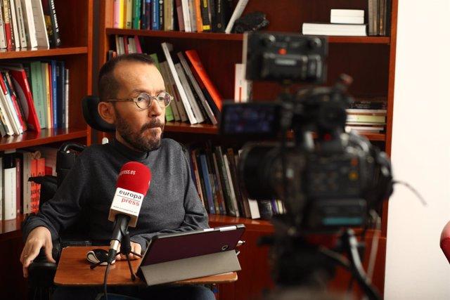 Entrevista al secretario de Organización de Podemos, Pablo Echenique