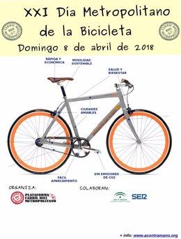 Cartel del XXI Día Metropolitano de la Bicicleta en Sevilla