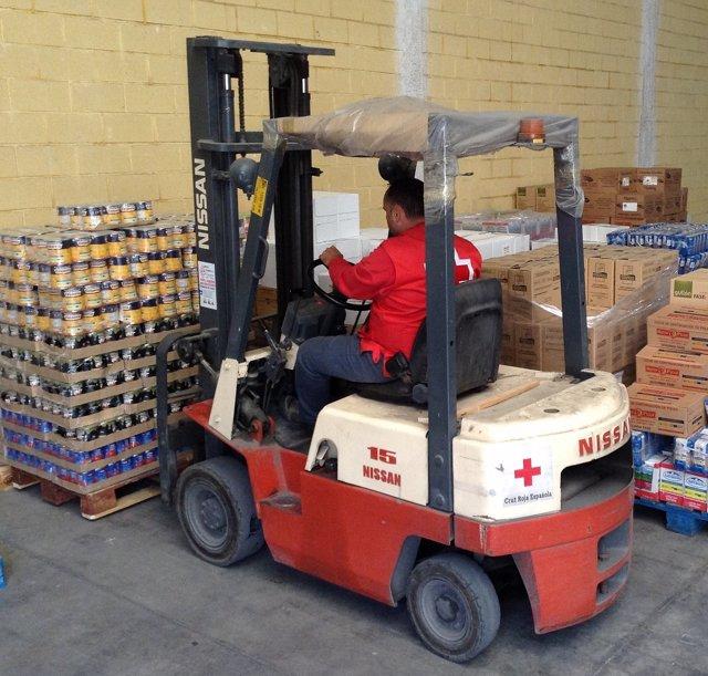 Reparto de ayuda alimentaria