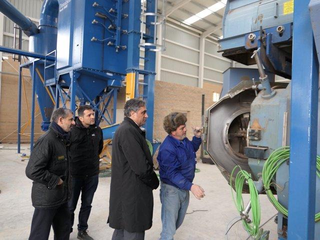 Planta de fabricación de biomasa y pellets