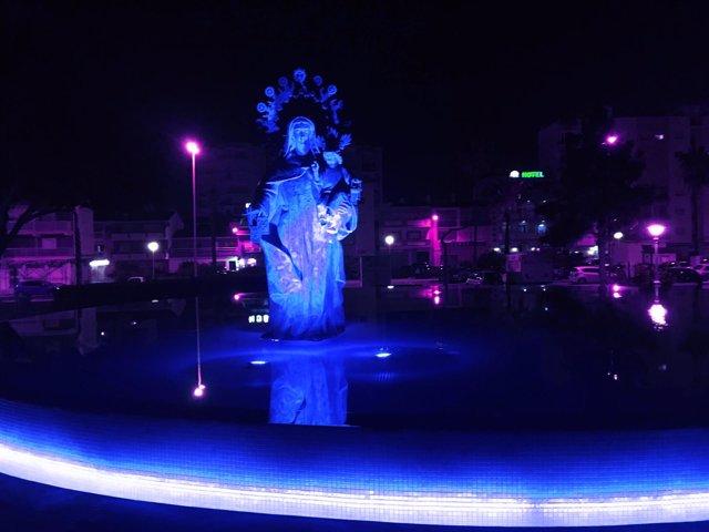 Np Torre Del Mar Iluminará De Azul La Fuente De La Virgen Del Carmen Para Celebr
