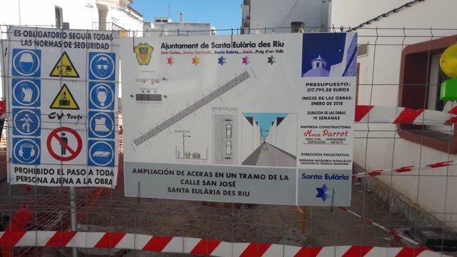 Obras de la calle Sant Josep