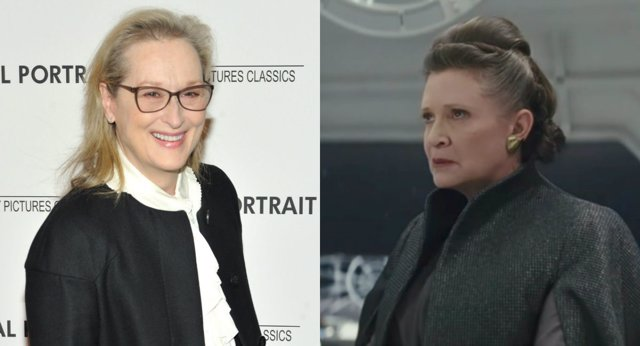Meryl Streep y Carrie Fisher