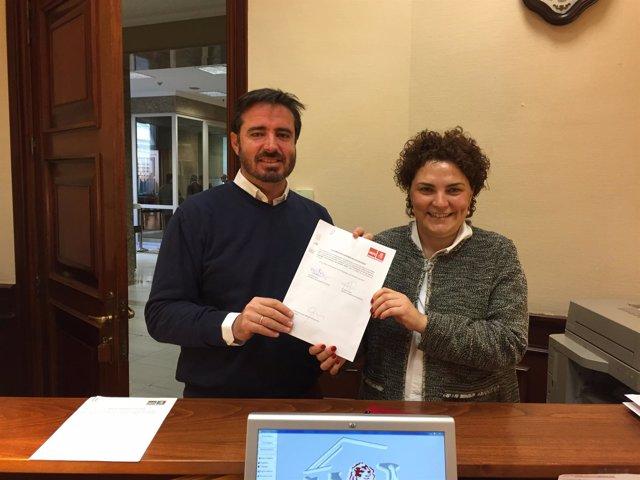 Los diputados del PSPV-PSOE por Alicante, Patricia Blanquer y Herick Campos