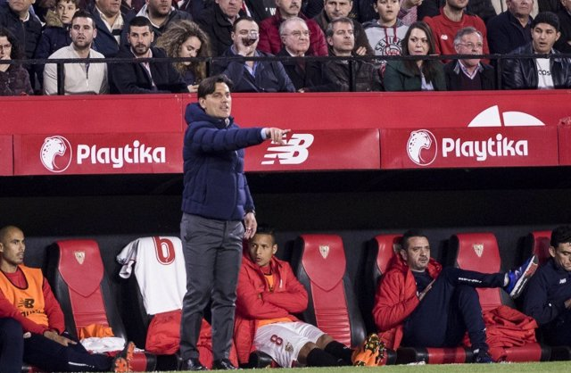 El técnico del Sevilla, Vincenzo Montella