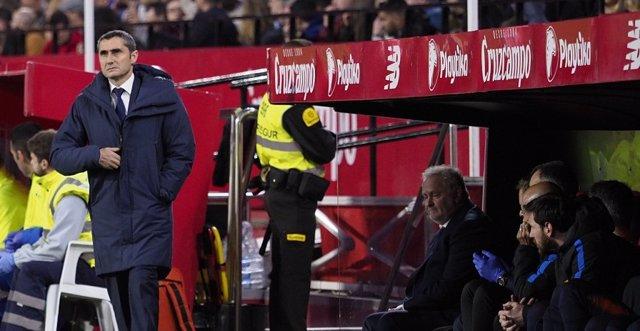 El técnico del FC Barcelona, Ernesto Valverde