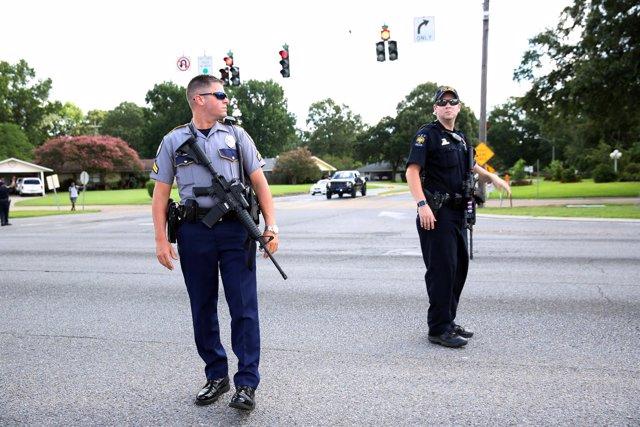 Policías en Baton Rouge, Luisiana