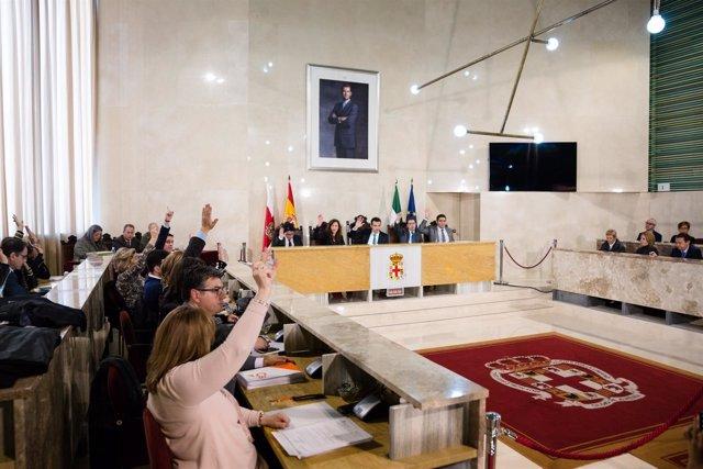 Pleno de aprobación inicial del Presupuesto municipal 2018 de Almería