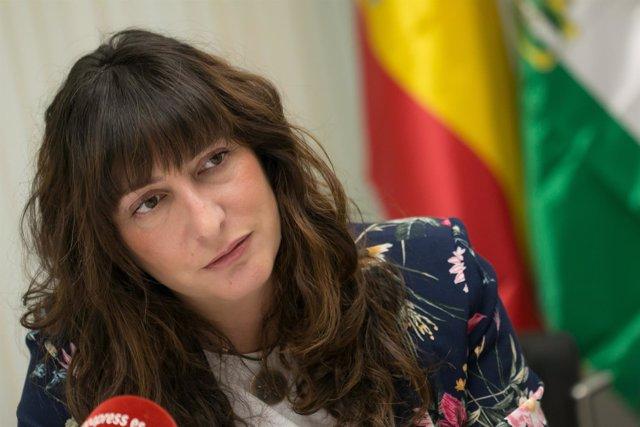 La número dos del PP-A, Loles López, durante la entrevista