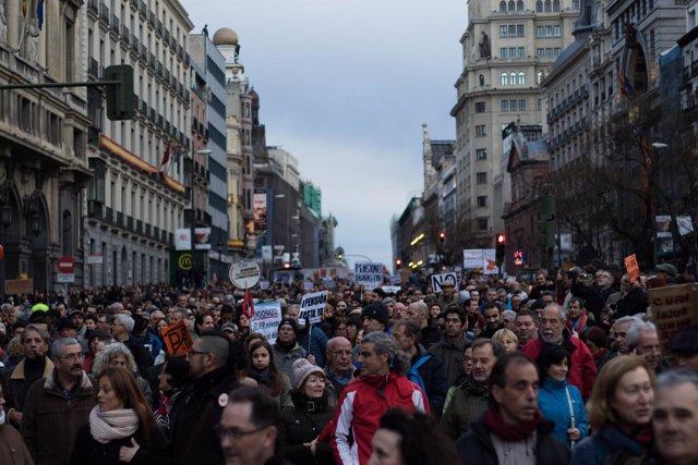 Manifestación pensiones, 17 de marzo