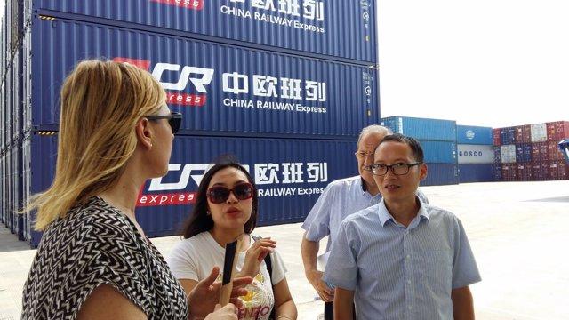 Gastón en la zona franca de la terminal de Yiwu.
