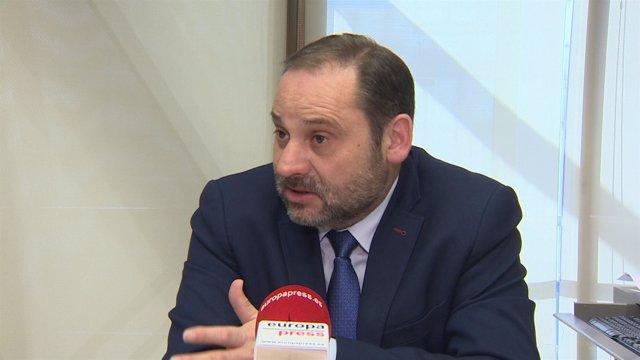 Entrevista al secretario de Organización del PSOE, José Luis Ábalos