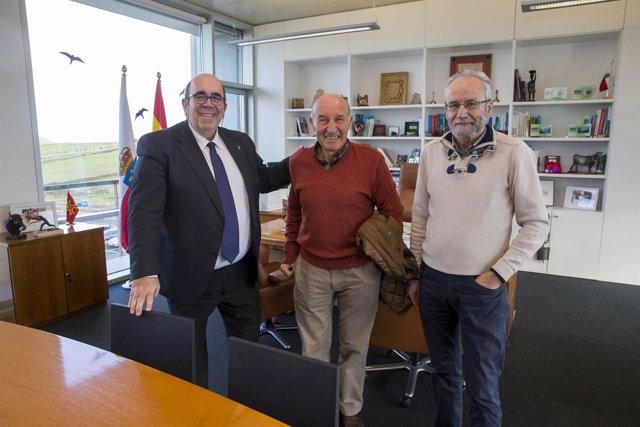 Oria con alcalde de Cabuérniga