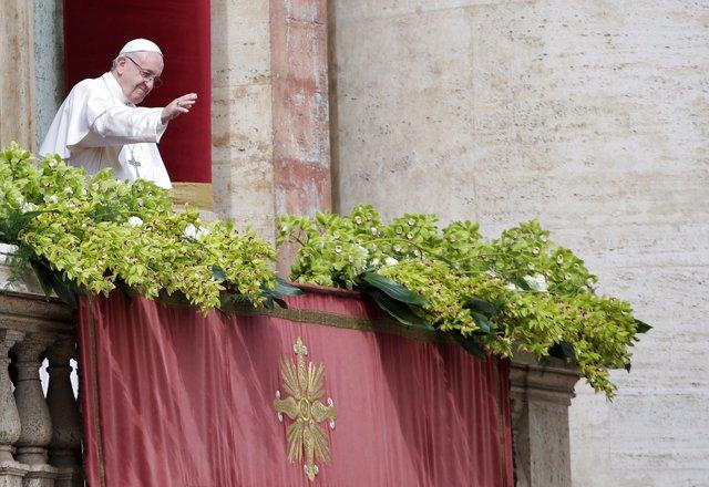 El Papa Francisco durante el Urbi et Orbi