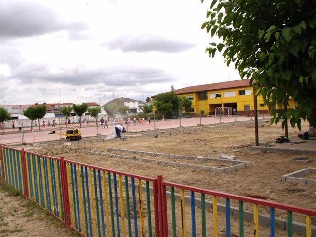 Imagen de un colegio en obras