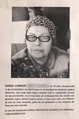 Desaparecida en Peñíscola