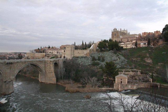 Puente, San Martín, Monumento, Río Tajo, Agua, Cielo, Toledo