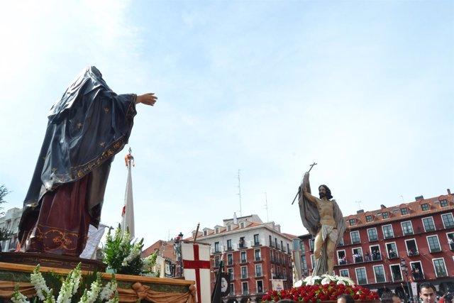 Valladolid (01-04-2018).- Procesión del Encuentro