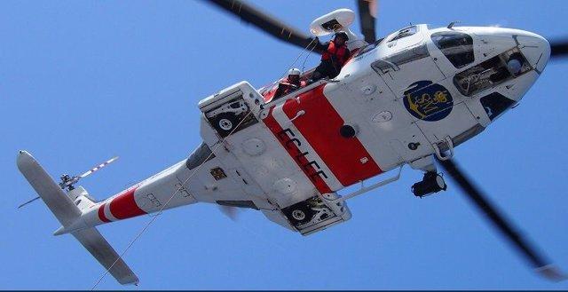 Helicóptero que ha efectuado el rescate