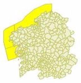 Aviso amarillo por viento en Galicia el 2 de abril de 2018
